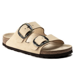 BIRKENSTOCK ARIZONA BIG BUCKLE NUBUCK LEATHER-ALMOND