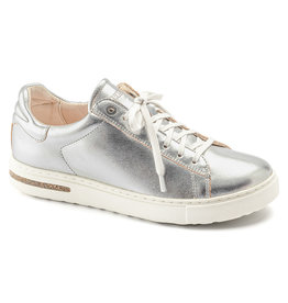 BIRKENSTOCK BEND LEATHER-SILVER