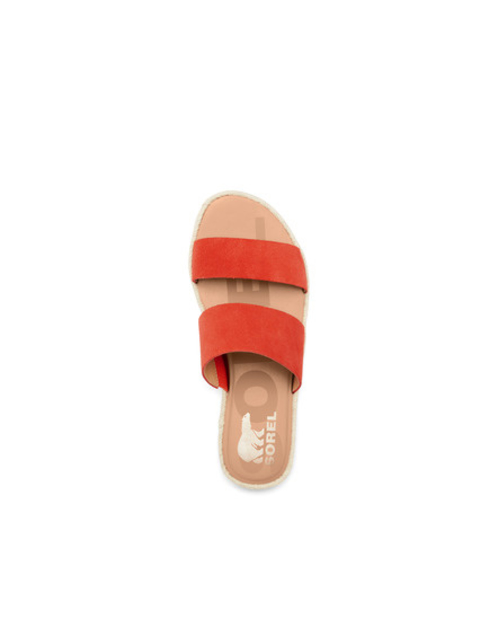 SOREL WOMEN'S ELLA II SLIDE-SIGNAL RED