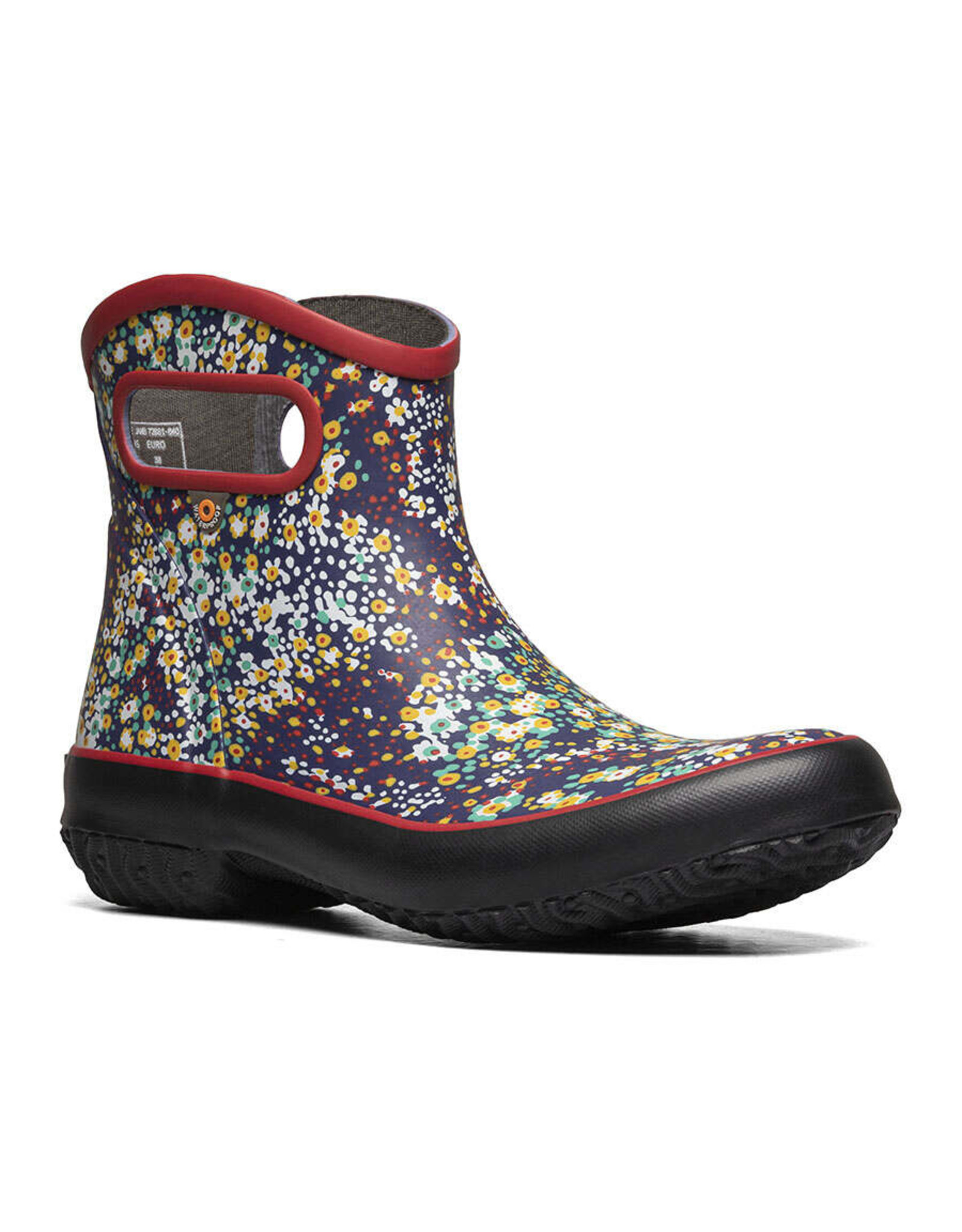 BOGS WOMEN'S PATCH ANKLE GARDEN BOOTS-CHERRY