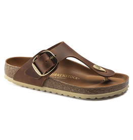 BIRKENSTOCK GIZEH BIG BUCKLE LEATHER-COGNAC