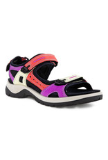 ECCO WOMEN'S OFFROAD FLAT SANDAL-MULTICOLOR HIBISCUS