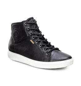 ECCO WOMEN'S SOFT 7 HIGH TOP-BLACK