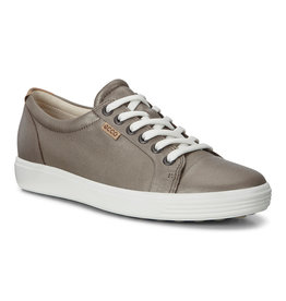 ECCO WOMEN'S SOFT 7 SNEAKER-STONE METALLIC