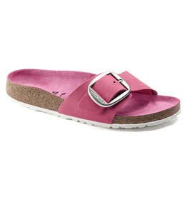 BIRKENSTOCK WOMEN'S MADRID BIG BUCKLE NUBUCK LEATHER-FUCHSIA TULIP