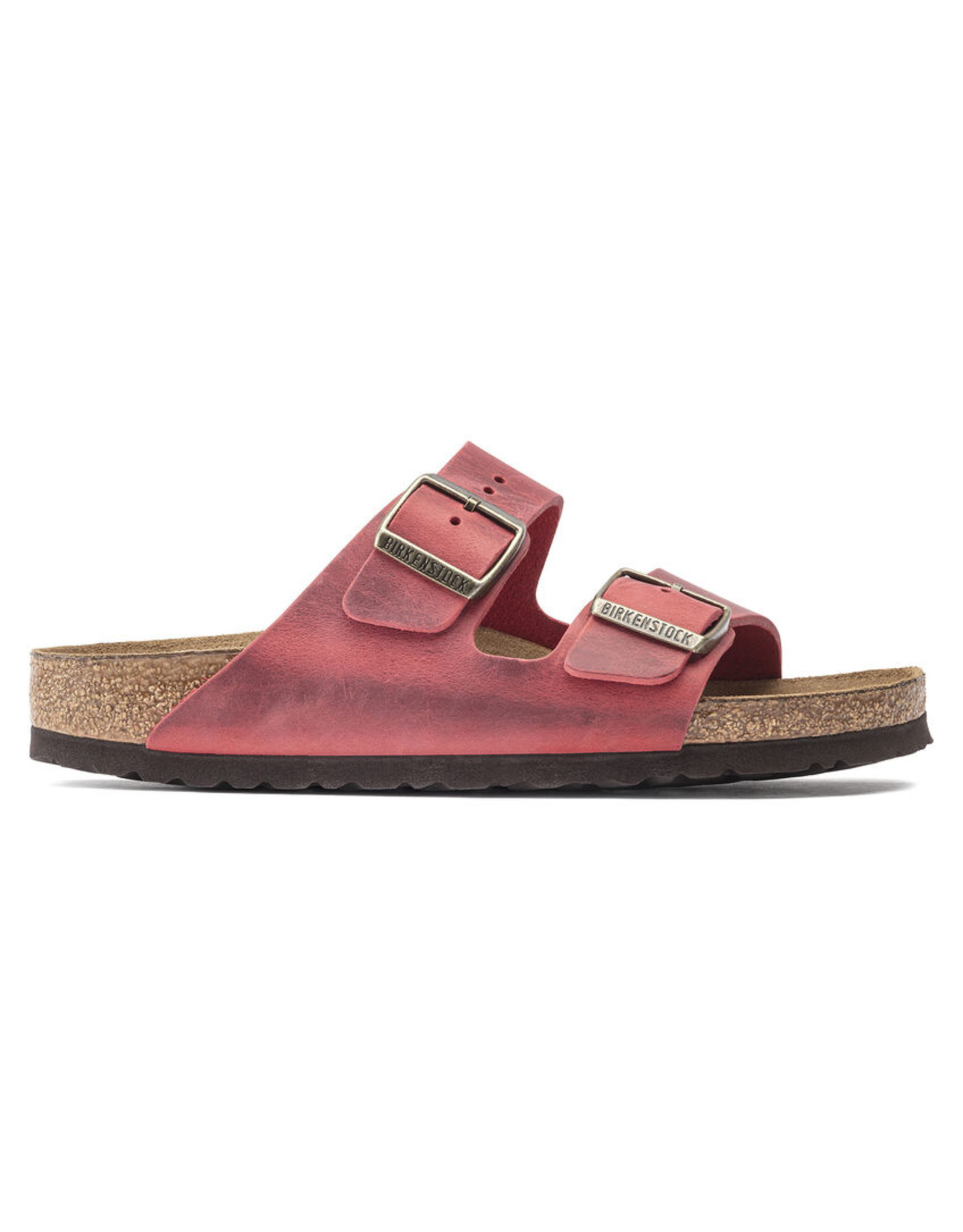 BIRKENSTOCK ARIZONA SOFT FOOTBED OILED LEATHER-FIRE RED