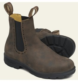 BLUNDSTONE HIGH TOP BOOTS-RUSTIC BROWN