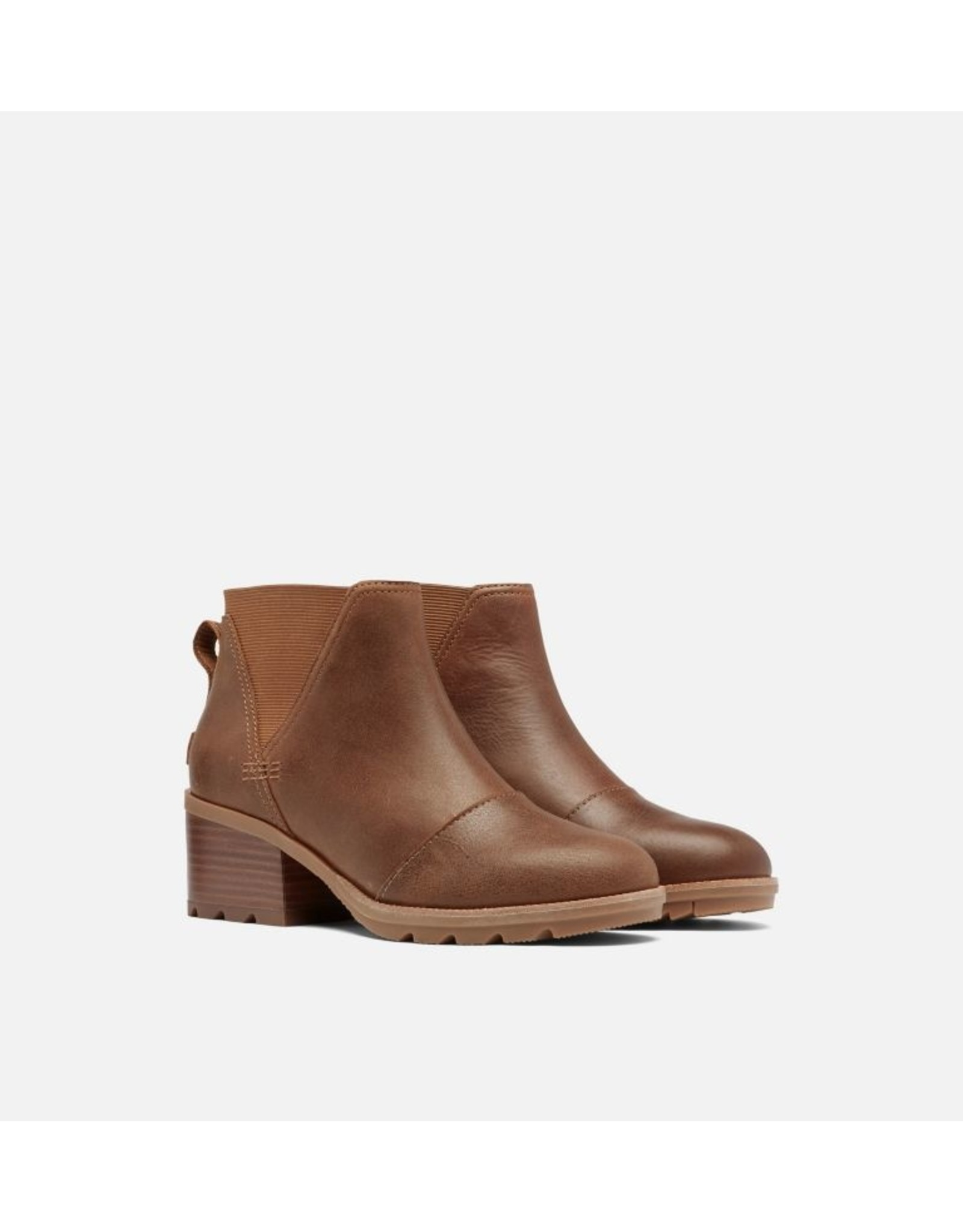 SOREL WOMEN'S CATE CHELSEA BOOTIE-OMEGA TAUPE, GUM