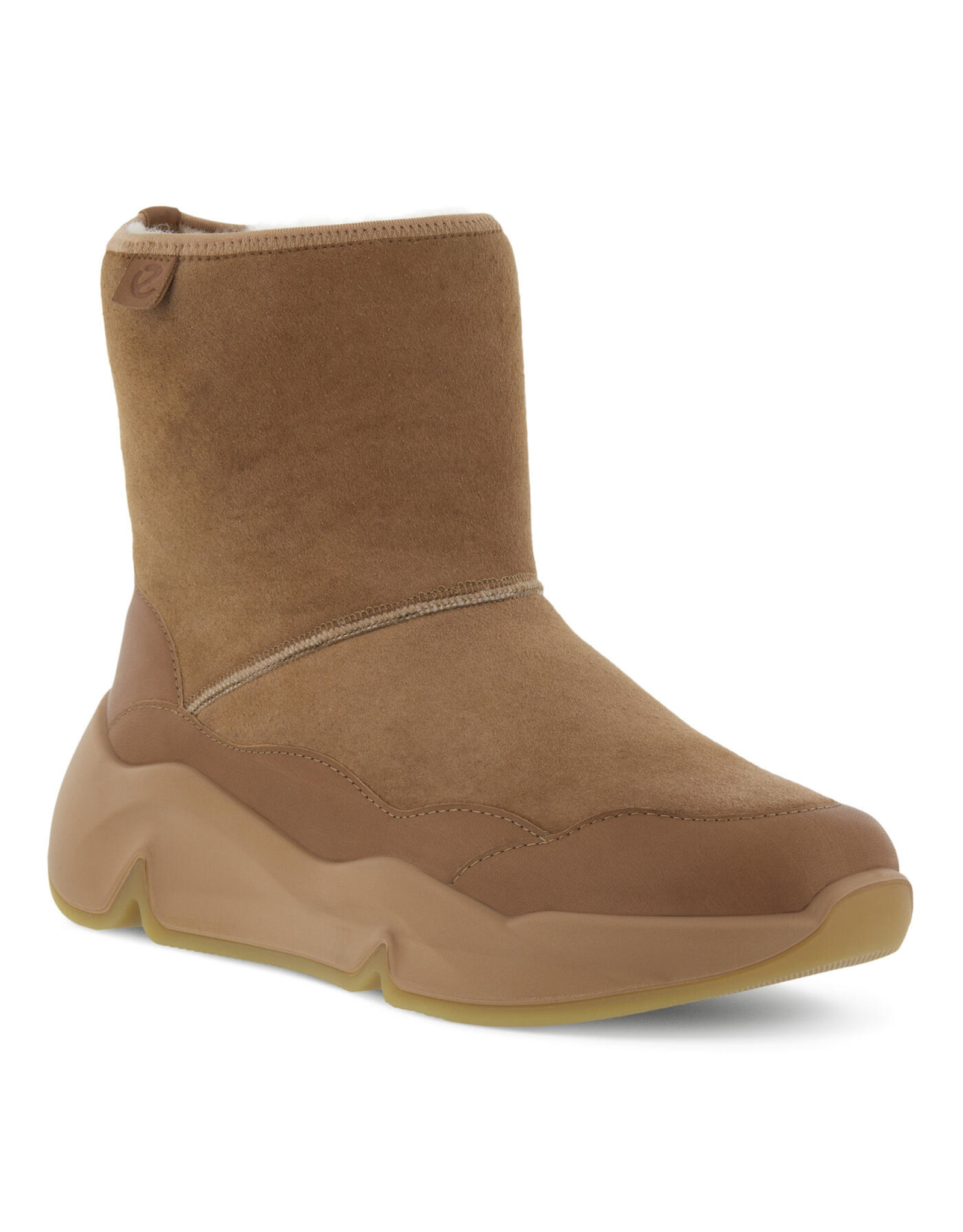 ECCO WOMEN'S CHUNKY SNEAKER HYGGE BOOT-TOFFEE/TOFFEE