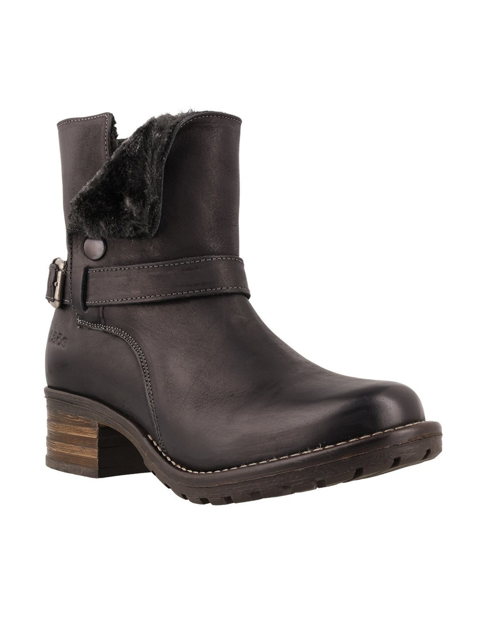 TAOS WOMEN'S COMBO LEATHER BOOT-BLACK