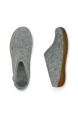 GLERUPS SLIP-ON RUBBER SOLE SLIPPER-GREY