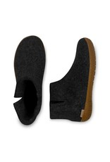 GLERUPS BOOT SLIPPER WITH RUBBER SOLE-CHARCOAL