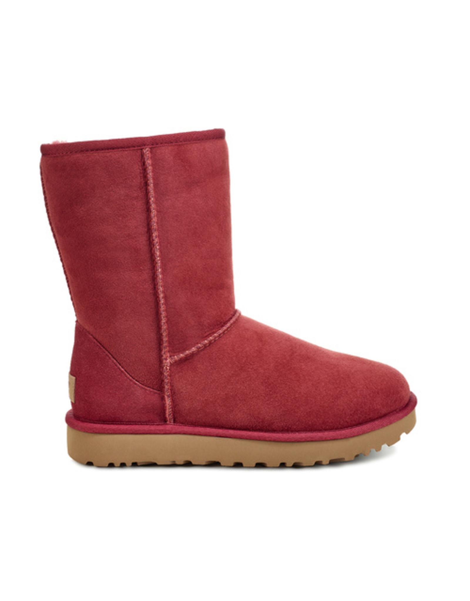 UGG WOMEN'S CLASSIC SHORT II-RIBBON RED