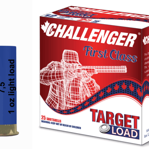 """CHALLENGER Challenger 12 Gauge Light Target Load 2 3/4"""", #7.5, 1 oz, 25rds"""