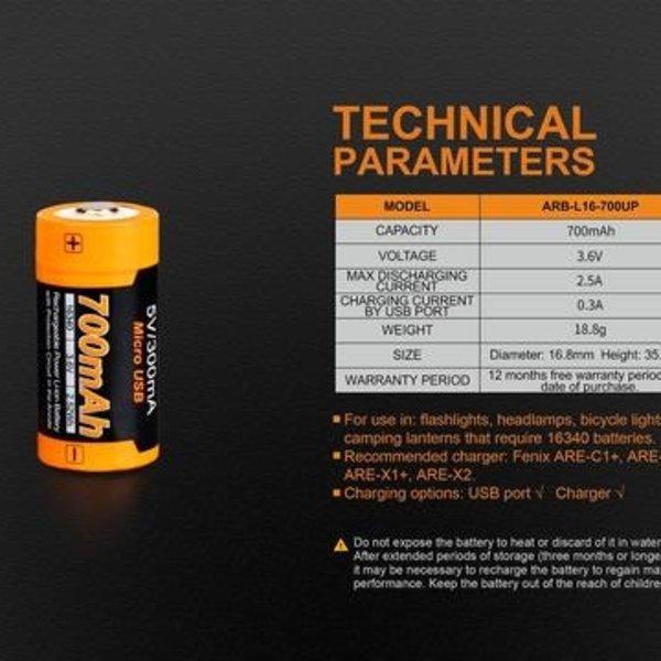 Fenix ARB-L16-700UP Battery Fenix