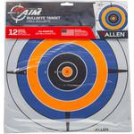 """Allen ALLEN EZ AIM PAPER TARGET 12x12 12"""" BULLSEYE"""