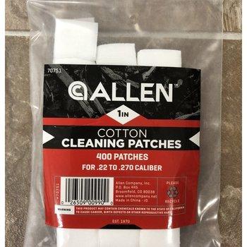 """Allen COTTON CLEANING PATCHES 1"""" 400 QTY .22 - .270 ALLEN 70751"""