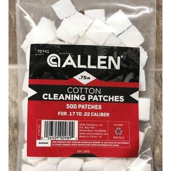 """Allen COTTON CLEANING PATCHES .75"""" 500 QTY .17 - .22  ALLEN 70741"""