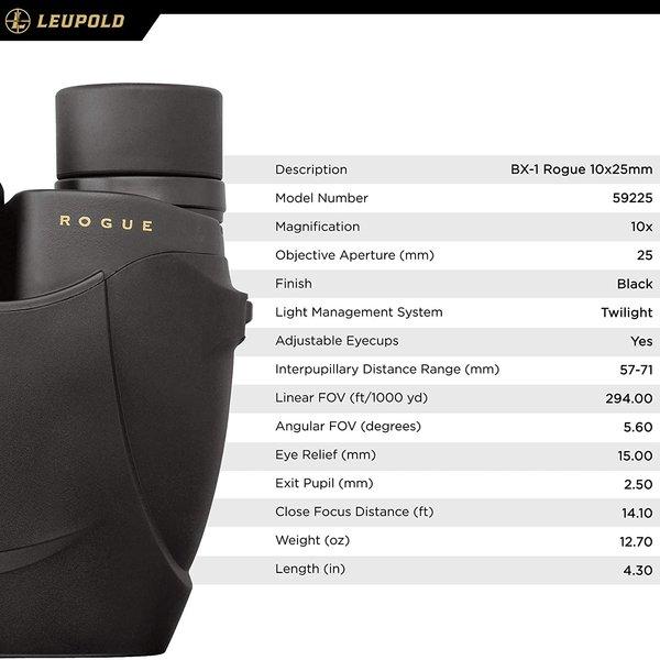 Leupold Leupold BX-1 ROGUE 10X25mm Compact Binoculars