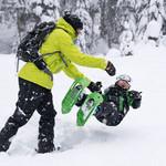 MSR Tyker Children's Snowshoes - Dino Green