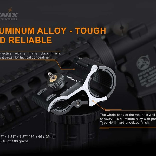 Fenix ALG-18 Flashlight Barrel Rail Mount