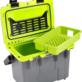 Pelican Personal Cooler 14 Qt  Dark Grey / Electric Green