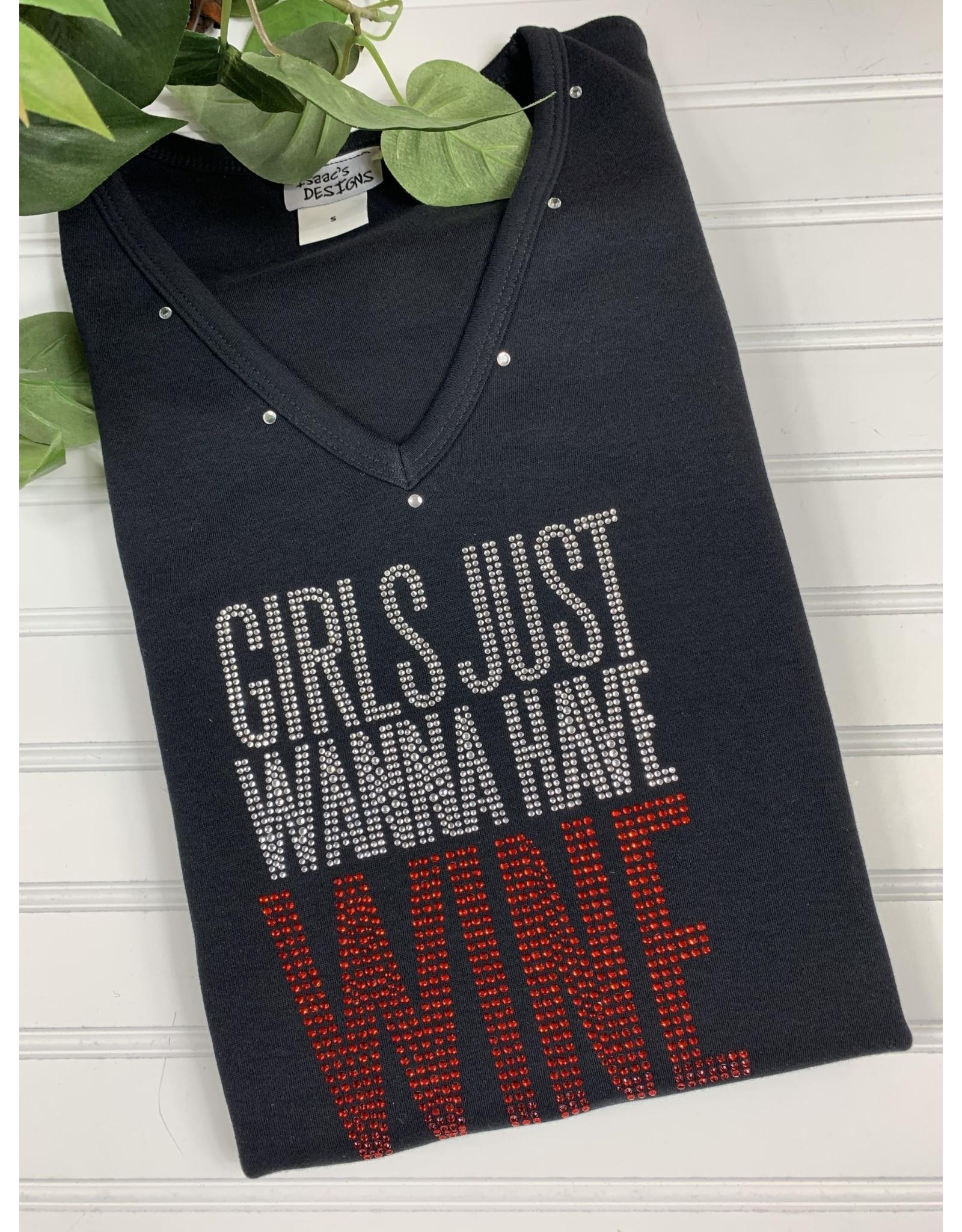 Isaac's Isaac's Girls Wanna Have Wine Tee