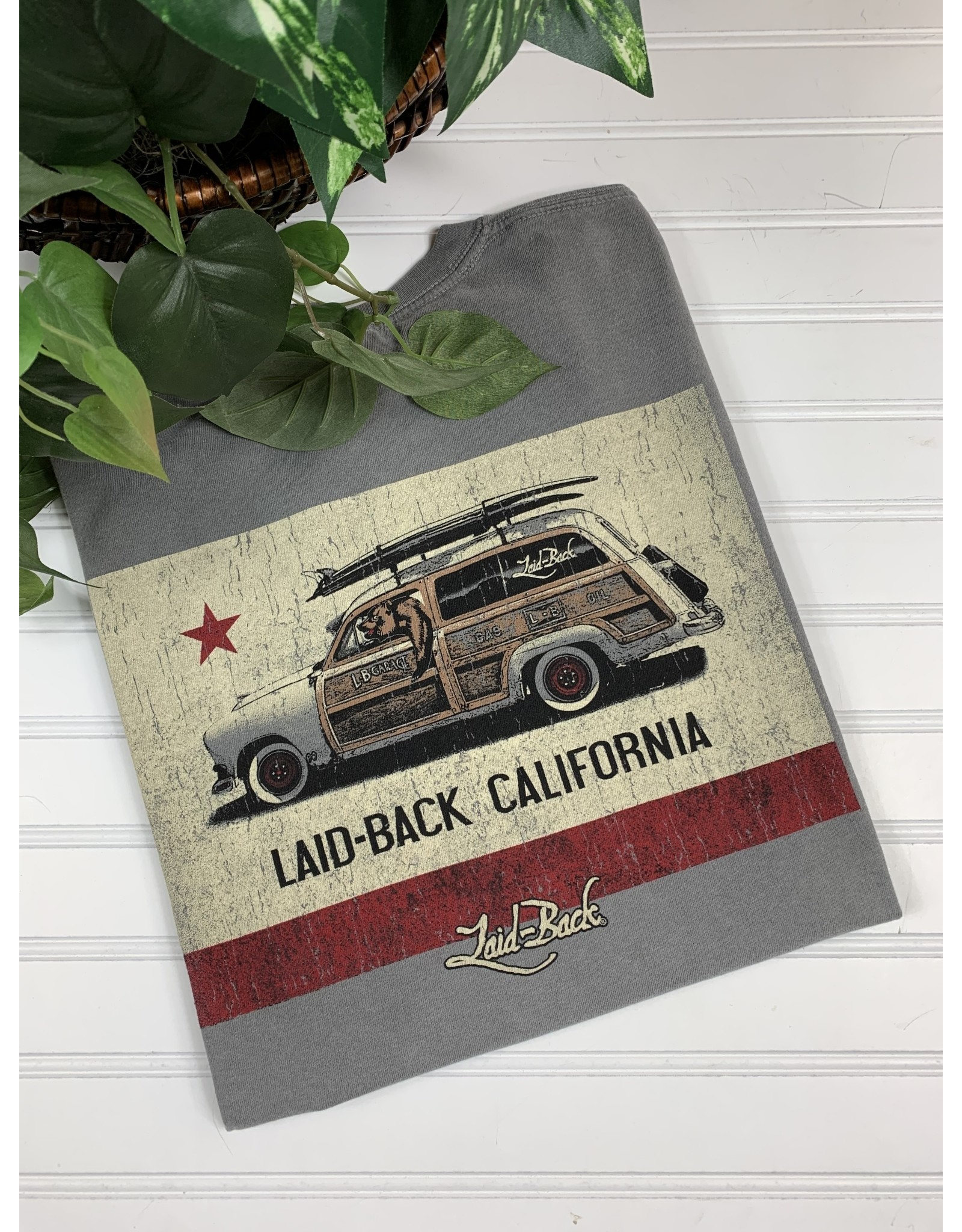 Laid Back Laid Back Cali Flag Woodie T-Shirt