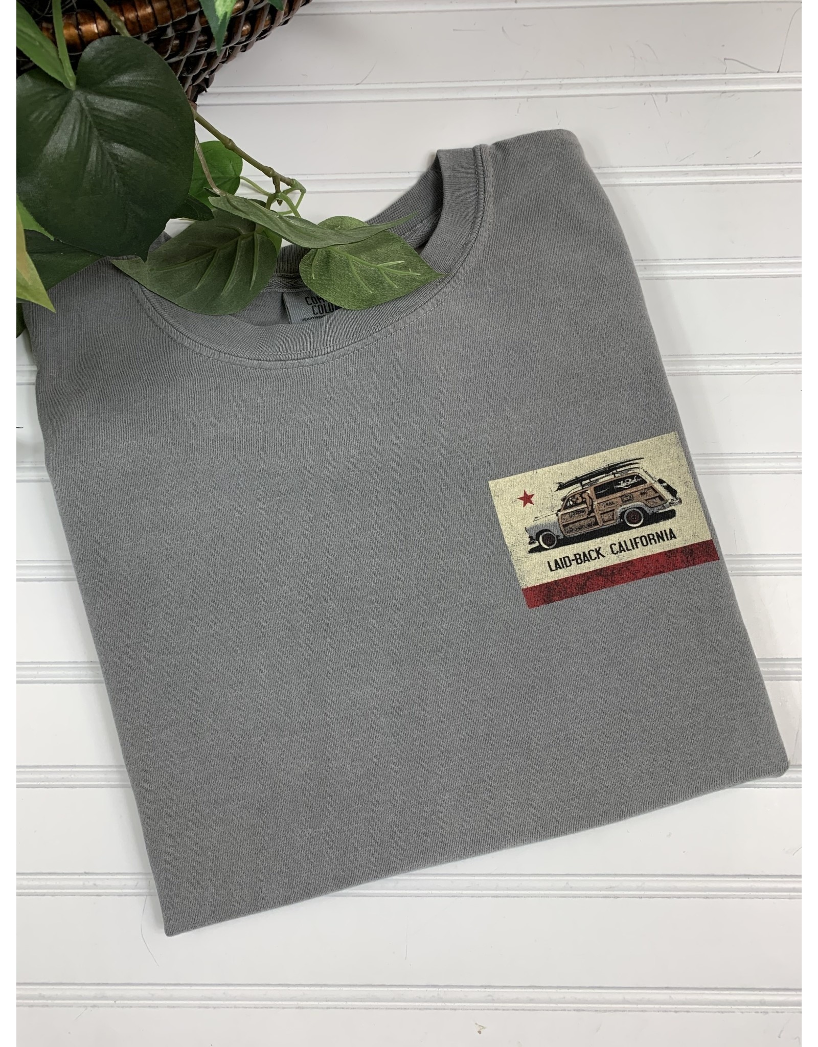 Laid Back Laid Back Cali Flag Woodie T-Shirt