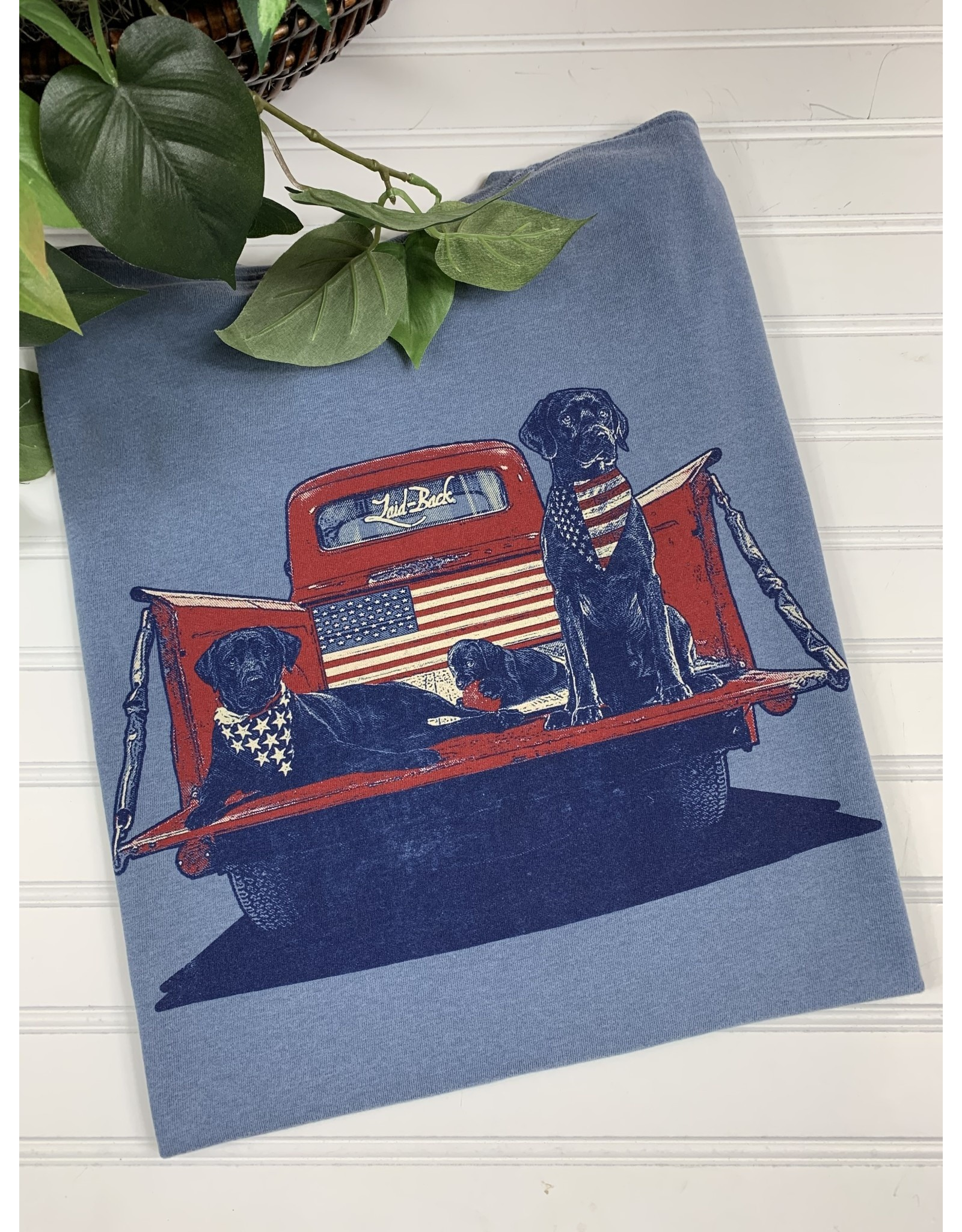 Laid Back Laid Back Red Truck USA T-Shirt