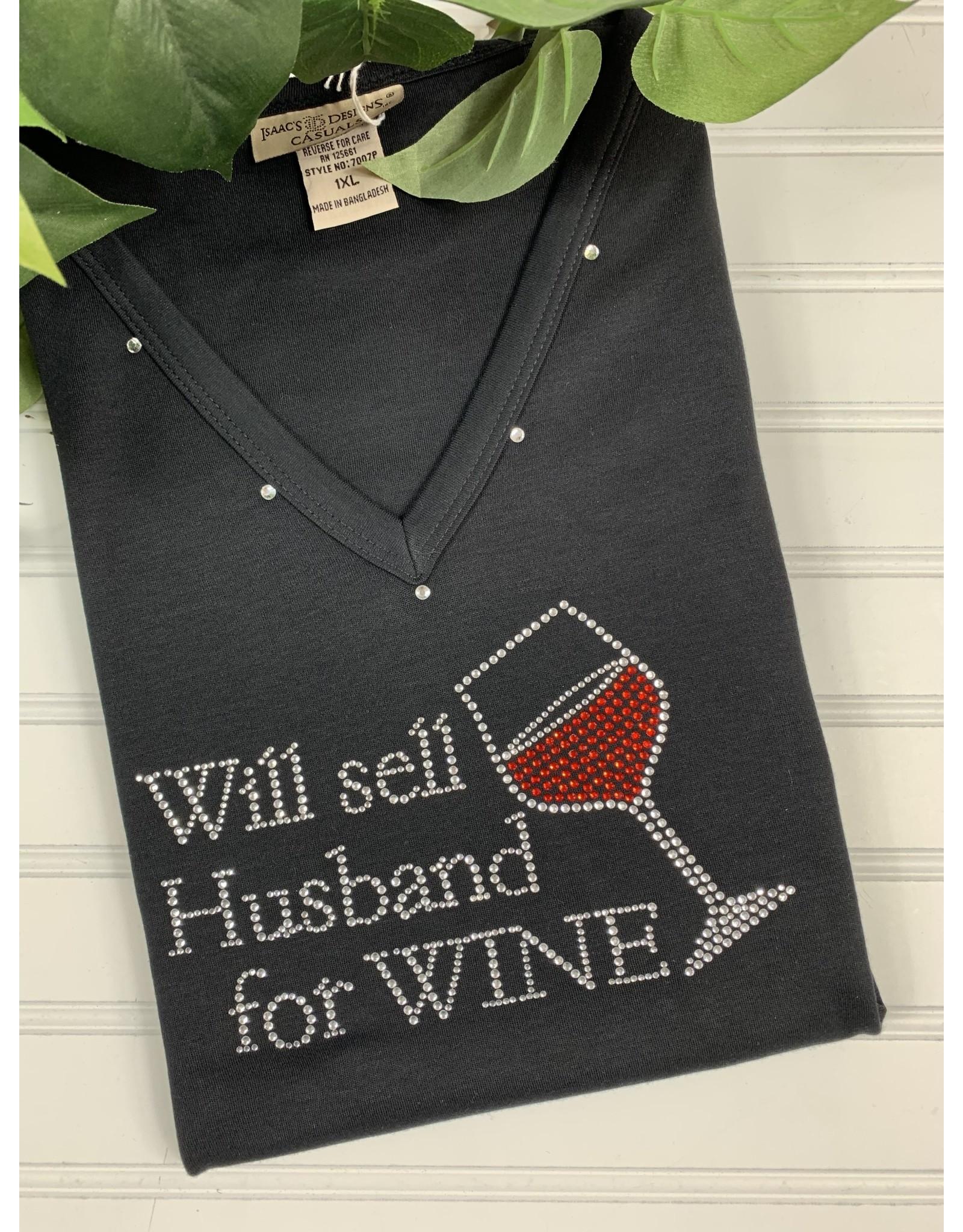 Isaac's Isaac's Will Sell Husband Wine Tee