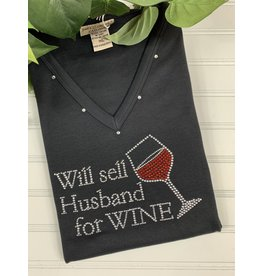 Isaac's Isaac's Will Sell Husband Wine Tee