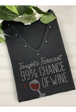 Distinct Distinct 99% Chance Wine Tee