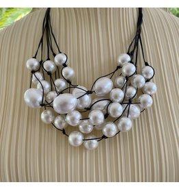 Deborah Grivas Design Jill Pearl with Black Cord