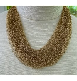 VC Exclusives Extra Fine Multi Strand Gold Necklace