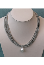 Sea Lily VCExclusives: Single Pearl Drop With  Grey