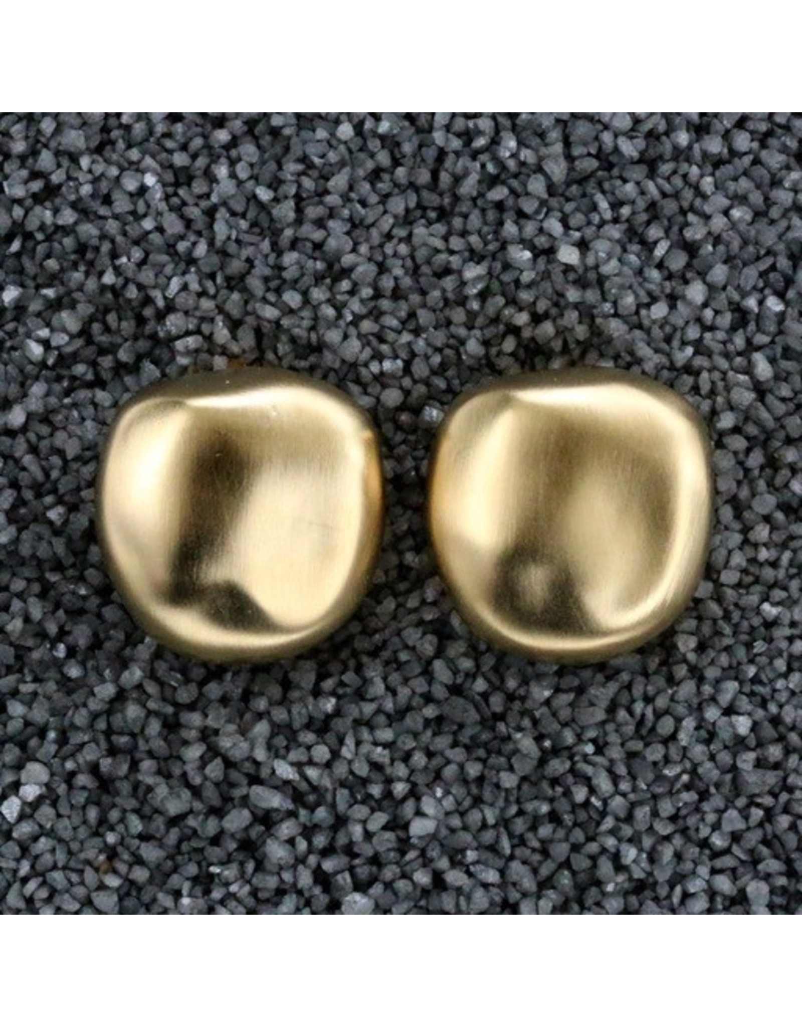 Kenneth Jay Lane Gold Nugget Clip Earring