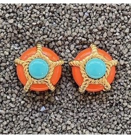 VC Italy VCExclusives: Turquoise & Gold Rope Pops in Coral