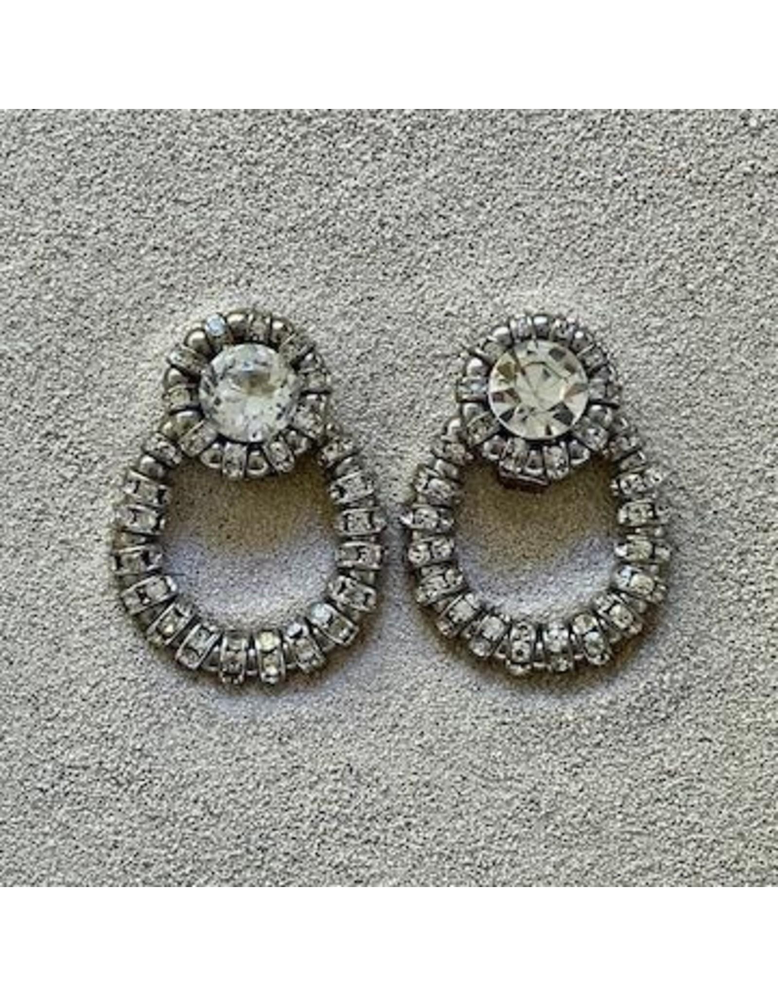 Francoise Montague FMontague: Joyce Loops w/Silver & Crystal Details