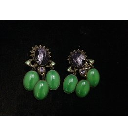 Jean Louis Blinn Blinn: Lavender & Green Chandaliers
