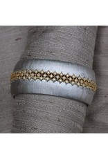 Jardin Jardin: Satin Silver with Gold and Crystal Weave