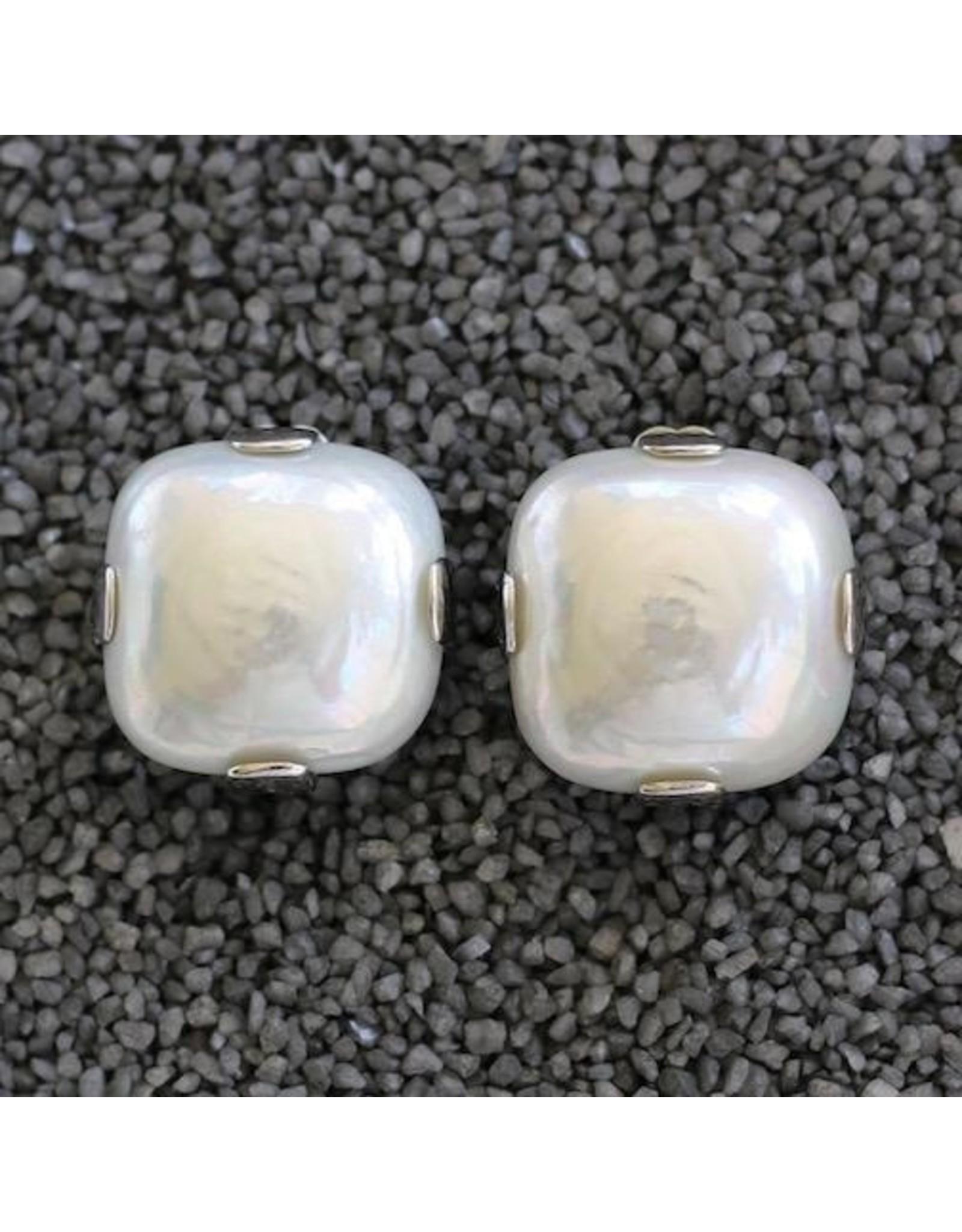 Francoise Montague FMontague: White Pearl Square w/Silver