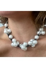 Deborah Grivas Design VCExclusives: White Pearl on Black Cord