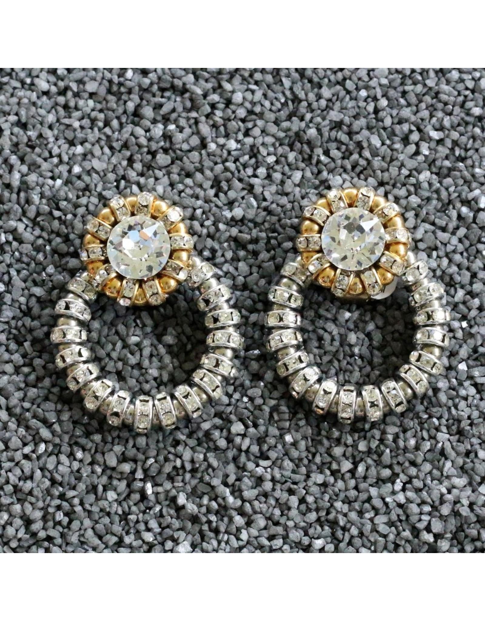 Francoise Montague FMontague: Joyce Loops w/Silver & Gold Crystal Details