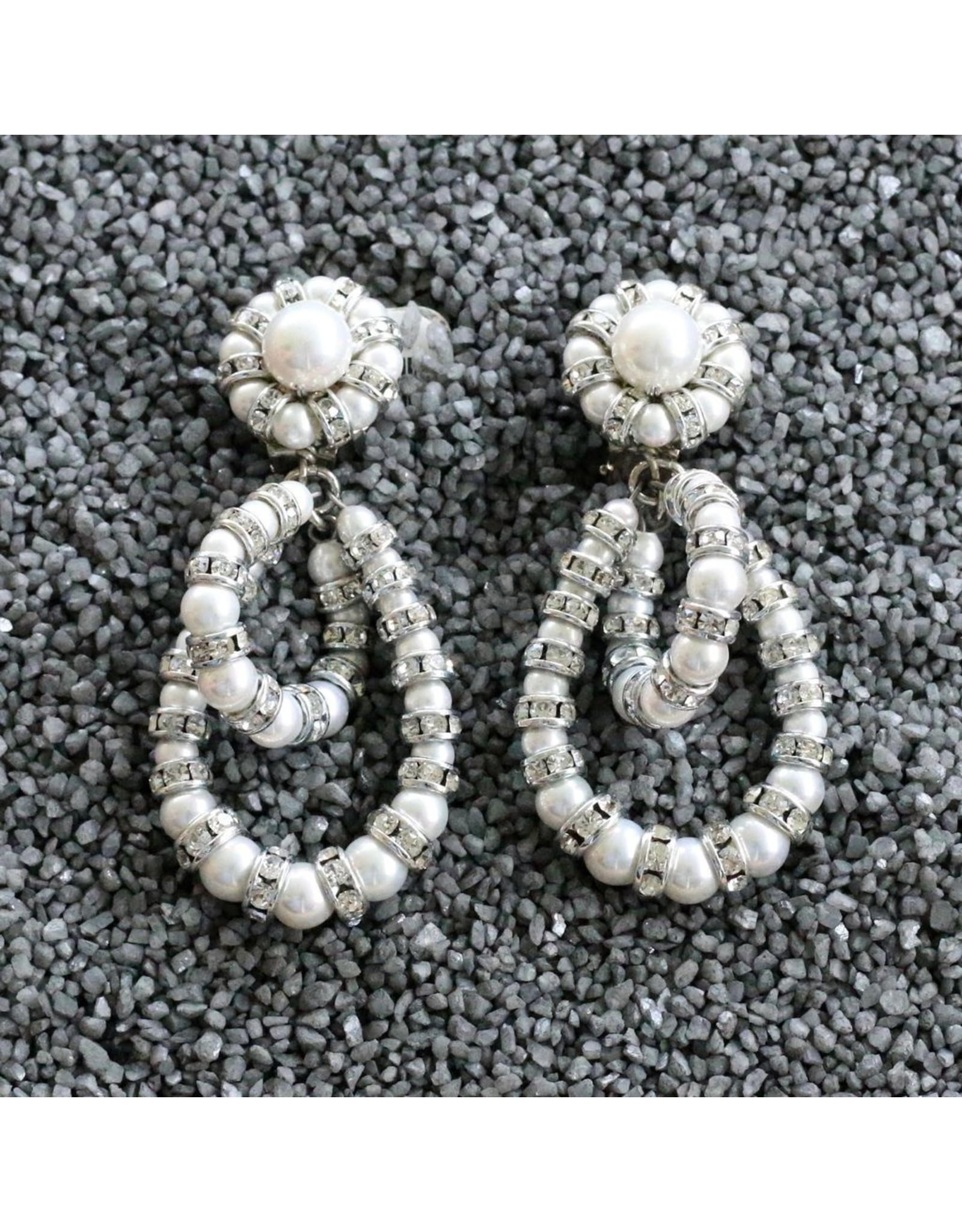 Francoise Montague Fmontague: Lolita Pearl Loops w/Silver