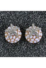 Kenneth Jay Lane KJLane: Crystal Starfish on White Coral