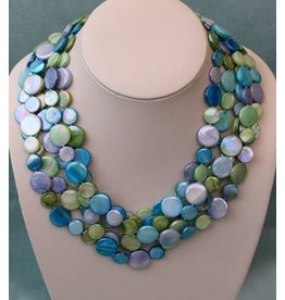 Sea Lily VCExclusives: Chimes Glass Beads Blues/Greens