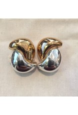 Simon Sebbag Designs Gold & Silver Swirls Clip Earring