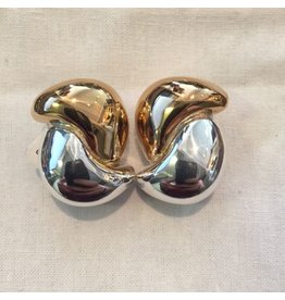 Simon Sebbag Designs Gold & Silver Swirls Clip Earring