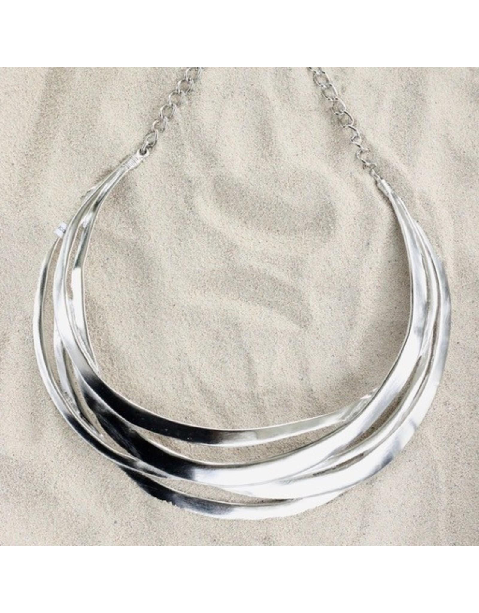 Kenneth Jay Lane KJLane: Cutout Collar Silver